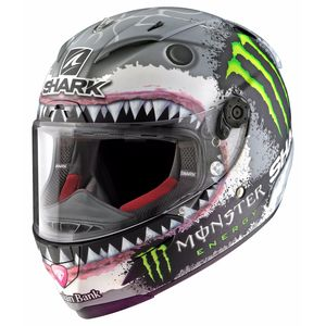 Casque Shark Race-r Pro - Replica Lorenzo Monster White Shark Edition Limitée
