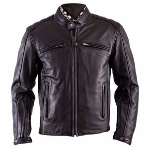 Blouson WILLIAM II - cuir PLAIN  Noir