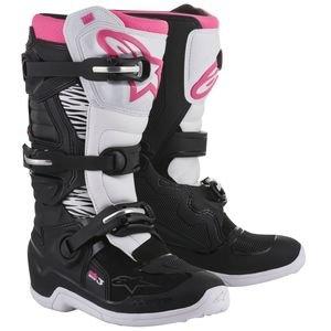 Bottes Cross Alpinestars Stella Tech 3 Black White Pink 2018