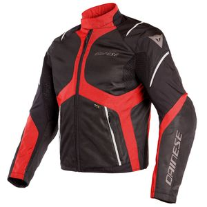 Blouson SAURIS D-DRY  Black/Tour red/Light grey