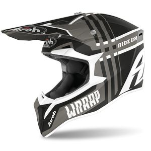 Casque cross WRAAP - BROKEN - ANTHRACITE MATT 2021 Anthracite