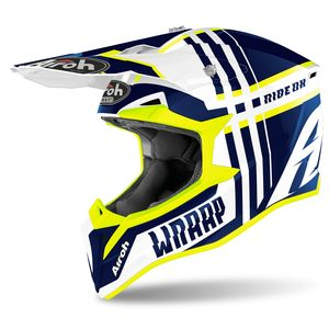 Casque cross WRAAP - BROKEN - BLUE GLOSS 2021 Blue