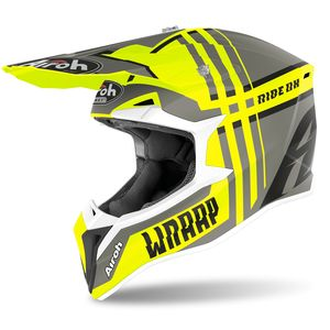 Casque cross WRAAP - BROKEN - YELLOW MATT 2020 Yellow