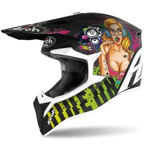 Casque cross WRAAP - PIN UP - MATT 2021 Multicolore