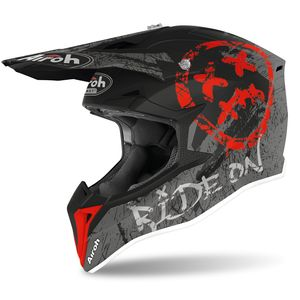 Casque cross WRAAP - SMILE - RED MATT 2021 Red