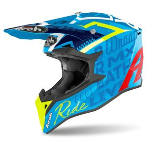 Casque cross WRAAP - STREET - AZURE GLOSS 2021 Blue
