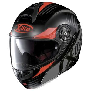 Casque X-1004 - NORDHELLE N-COM  Flat Black Red