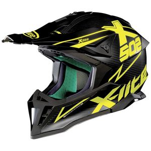 Casque Cross X-lite X-502 Ultra Carbon Matris Flat Carbon/yellow 2018