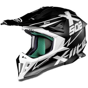 Casque cross X-502 - ULTRA CARBON MATRIS - FLAT CARBON/WHITE 2019 Carbon/White