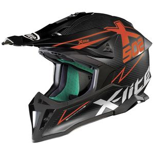 Casque Cross X-lite X-502 Ultra Carbon Matris Flat Carbon/red 2018