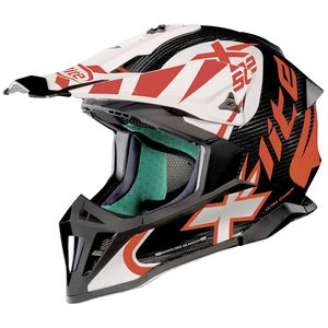Casque cross X-502 - ULTRA CARBON XTREM - CARBON/WHITE 2019 Carbon/White