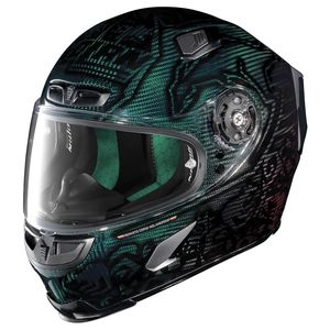 Casque X-803 - ULTRA CARBON - REPLICA C.STONER SUPER HERO  Carbon Nuance Green/Red