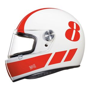 Casque X.G100 RACER - BILLY B  White/Red