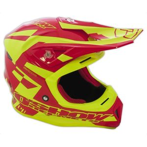 Casque cross O'SHOW C4+ RED / YELLOW 2018 Red/Yellow