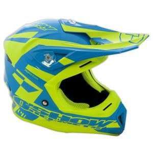 Casque cross O'SHOW C4+ BLUE / YELLOW 2018 Blue/Yellow