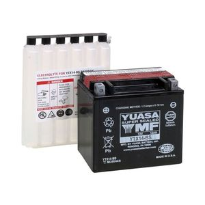Batterie YTX14-BS AGM ouverte Type Acide avec pack acide inclus