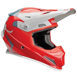 Casque cross SECTOR SHEAR RED LIGHT GRAY 2019 Rouge/Gris