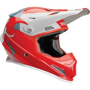Casque cross SECTOR SHEAR RED LIGHT GRAY ENFANT  Rouge/Gris