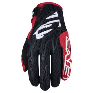 Gants cross MXF3 - BLACK WHITE RED 2019 Noir Blanc Rouge