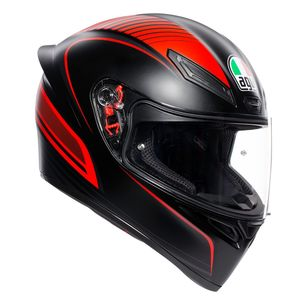 Casque K-1 - WARMUP MATT  Black/Red