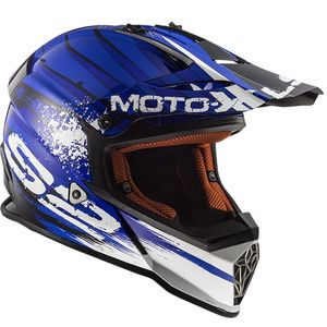Casque cross MX437 - FAST - GATOR BLUE 2019 Bleu