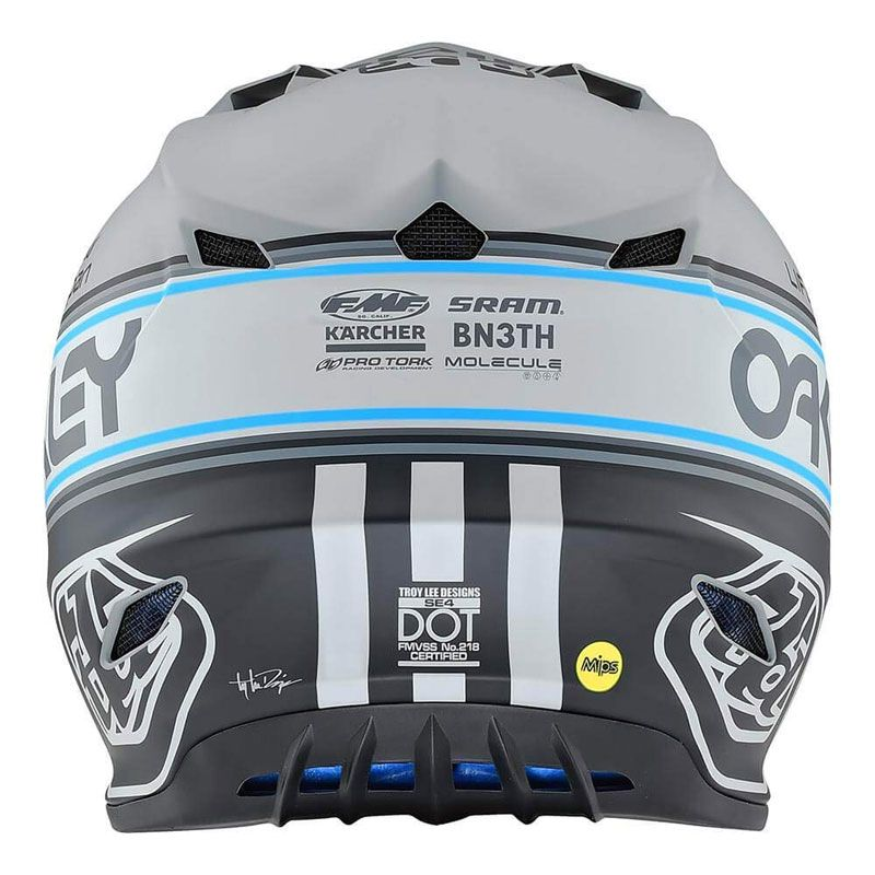 Casque cross TroyLee design SE4 POLYACRYLITE - TEAM EDITION 2 - GRAY 2020