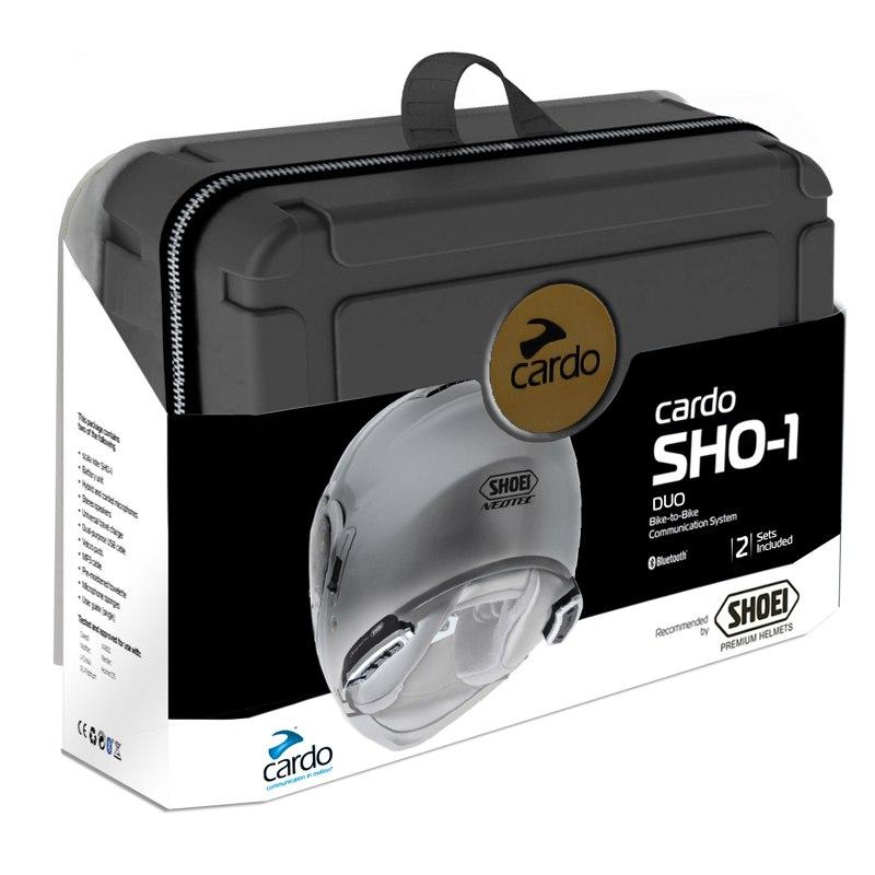 kit mains libres cardo bluetooth pour casque shoei sho 1 duo equipement du pilote access. Black Bedroom Furniture Sets. Home Design Ideas