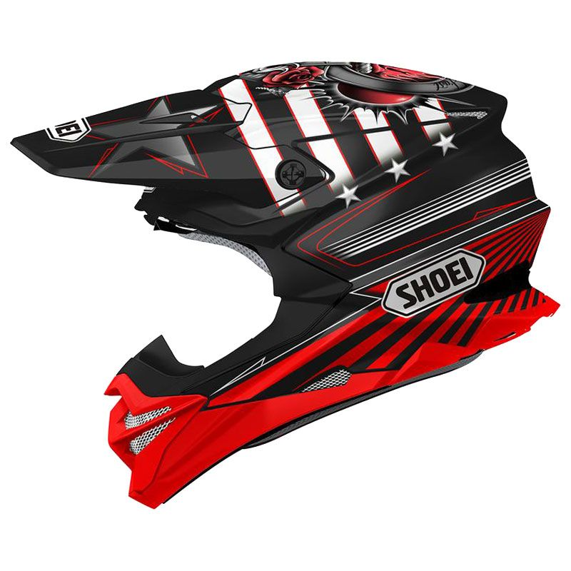 Casque cross Shoei VFX-WR REPLICA GRANT 3 BLACK RED TC-1 2019