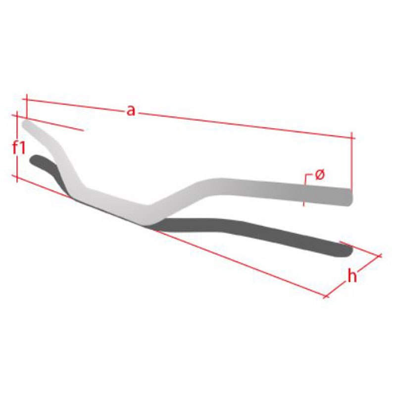 Guidon Neken 22mm High spécial CRF/KXF