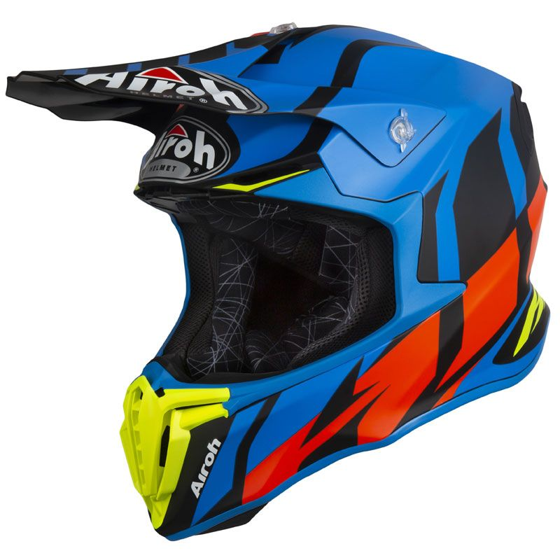 Casque Cross Airoh Twist Great Blue Matt 2019 Bleuorange