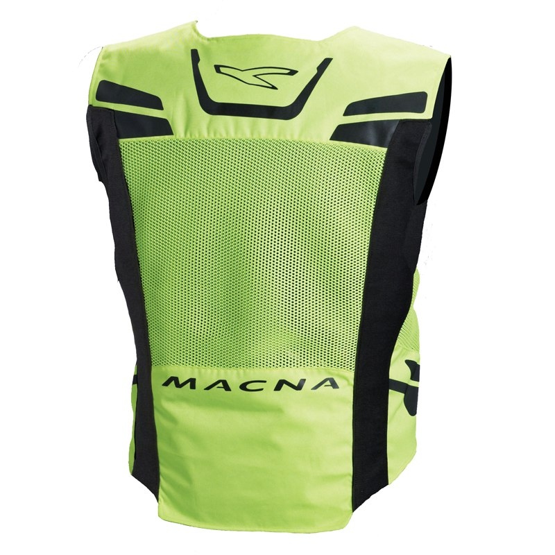 gilet de protection macna vision 4 all s jaune fluo equipement du pilote access. Black Bedroom Furniture Sets. Home Design Ideas